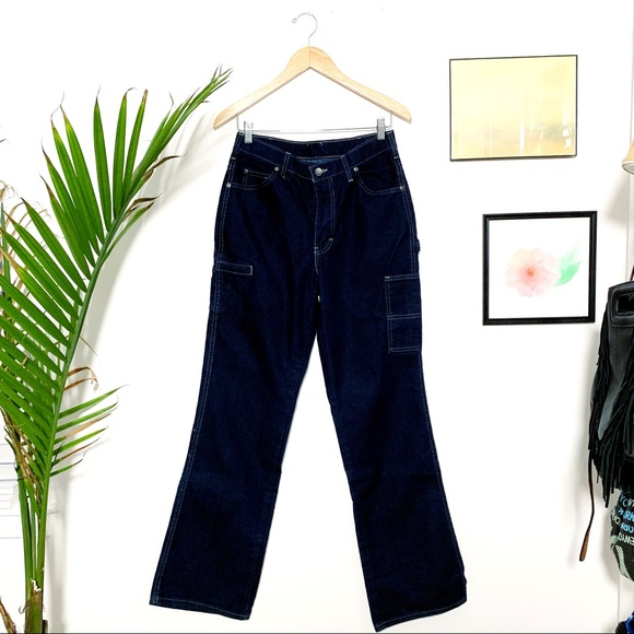 Vintage Denim - Dickie's Carpenter Jeans High-Waisted 90s - 8 Tall